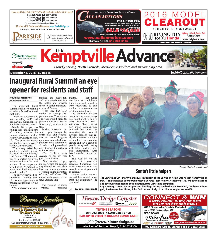 Kemptville120816 by Metroland East - Kemptville Advance - issuu