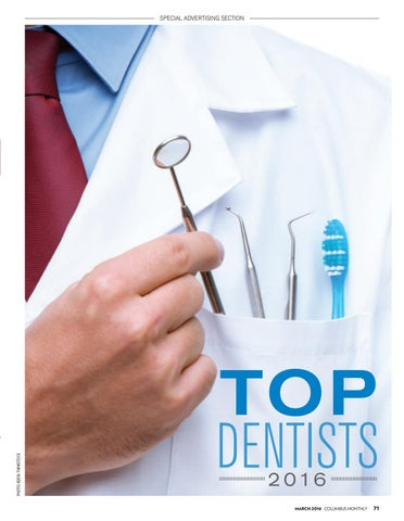 Columbus Monthly: Top Dentists 2016 by The Columbus Dispatch