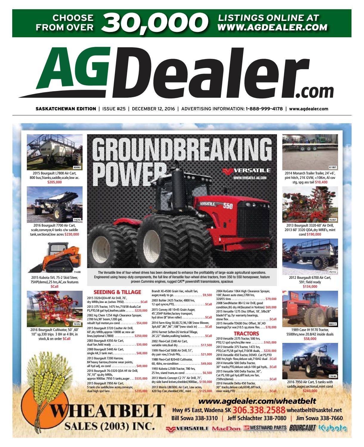 Wheel & Deal Saskatchewan, December 12, 2016 by Farm Business  Communications - issuu