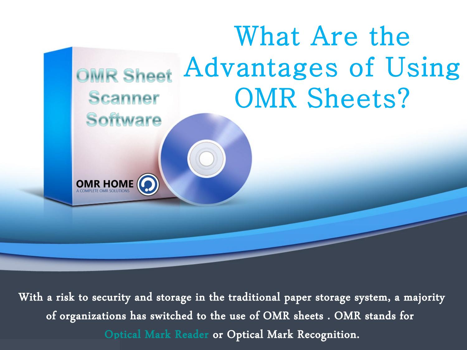 Advantages Of Using Omr Sheets By OMRHome