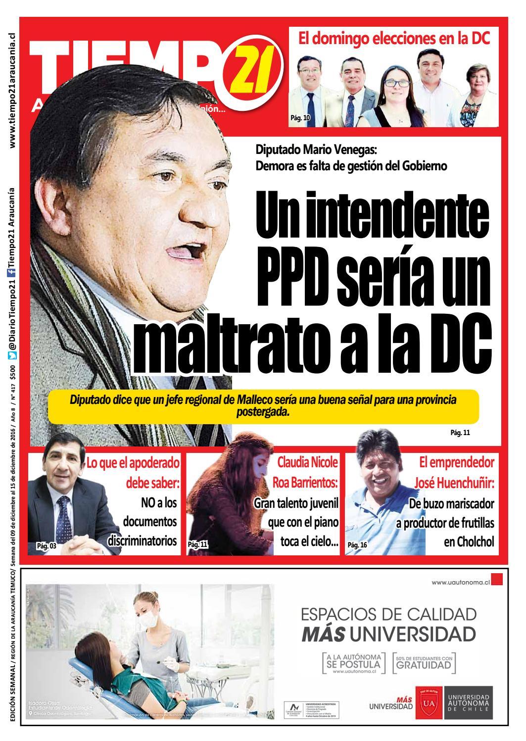 Edici N 417 Diputado Mario Venegas Un Intendente Ppd Ser A Un  # Muebles Jouannet Temuco