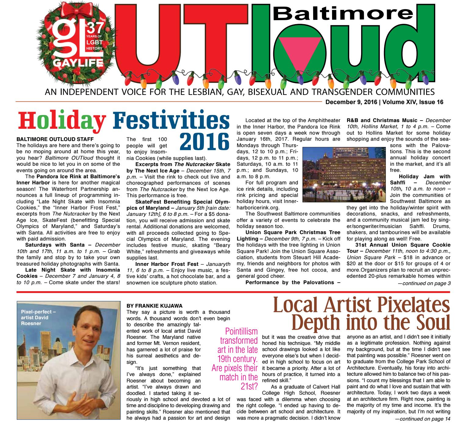 Baltimore OUTloud • December 9, 2016 by Baltimore OUTloud - issuu
