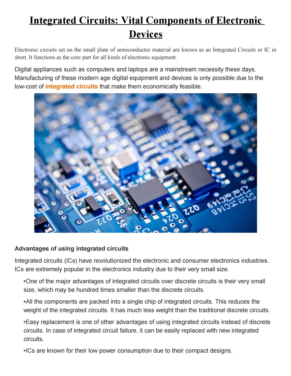 Integrated Circuits Vital Components Of Electronic Devices By Ic Express Technology Group Issuu