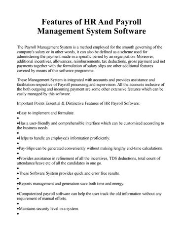 Features of HR And Payroll Management System Software by XMX
