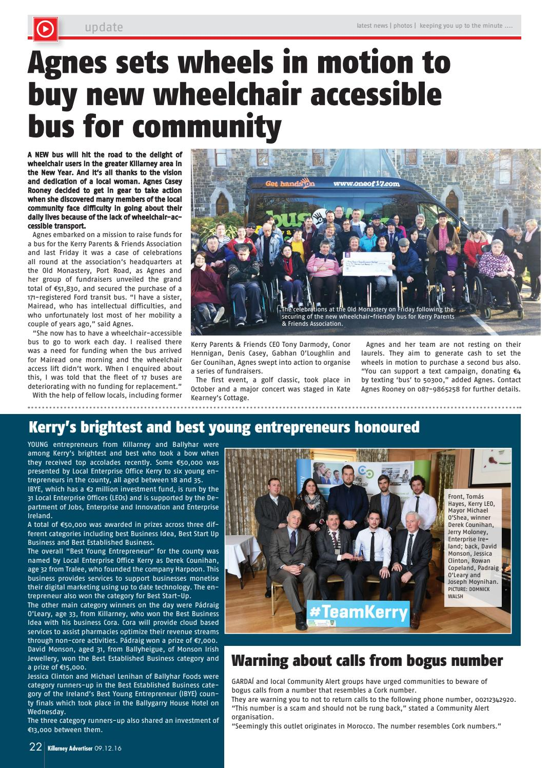 Killarney Advertiser, December 9th, 2016 by Killarney Advertiser - issuu