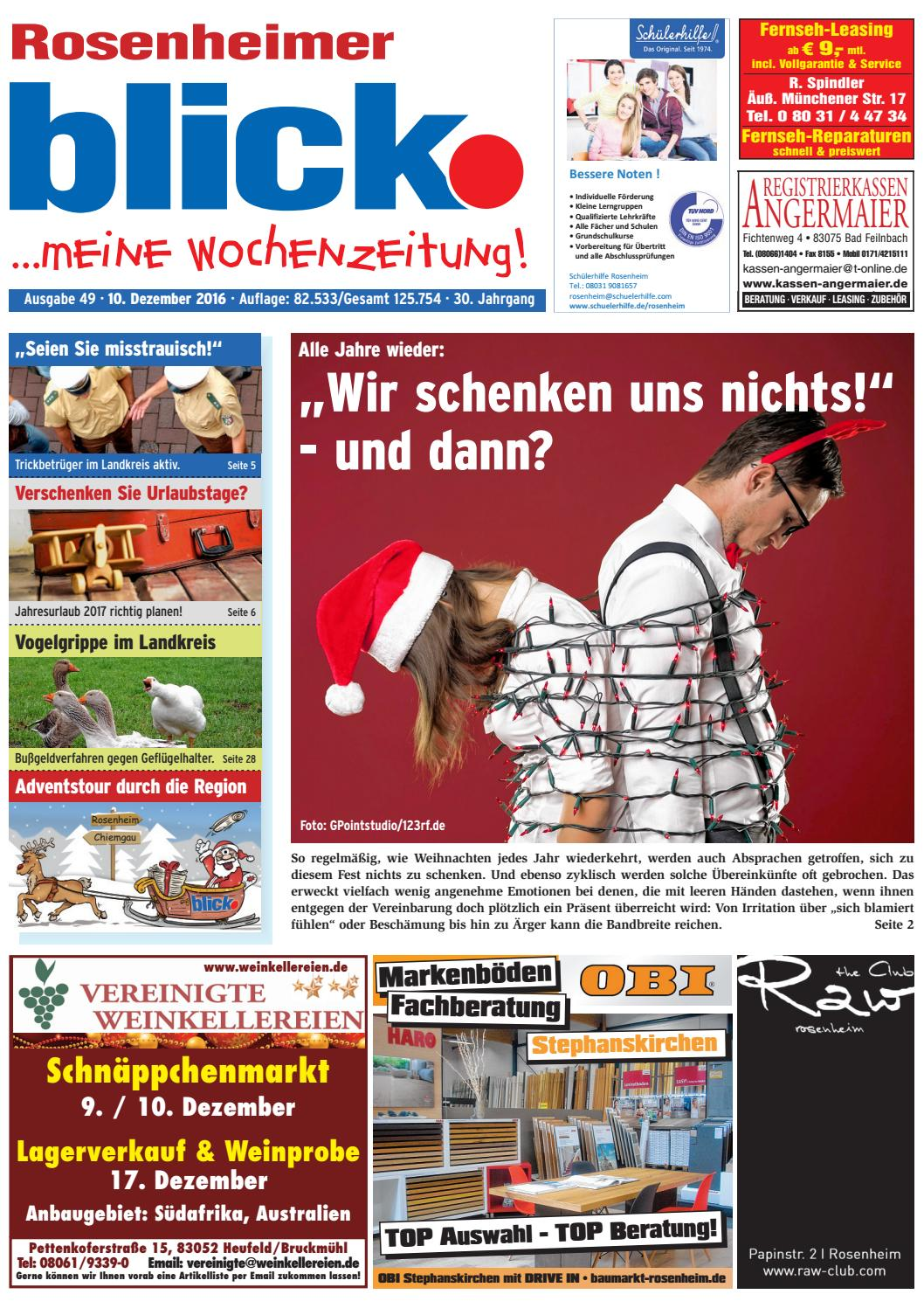 Rosenheimer blick - Ausgabe 49 | 2016 by Blickpunkt Verlag - issuu