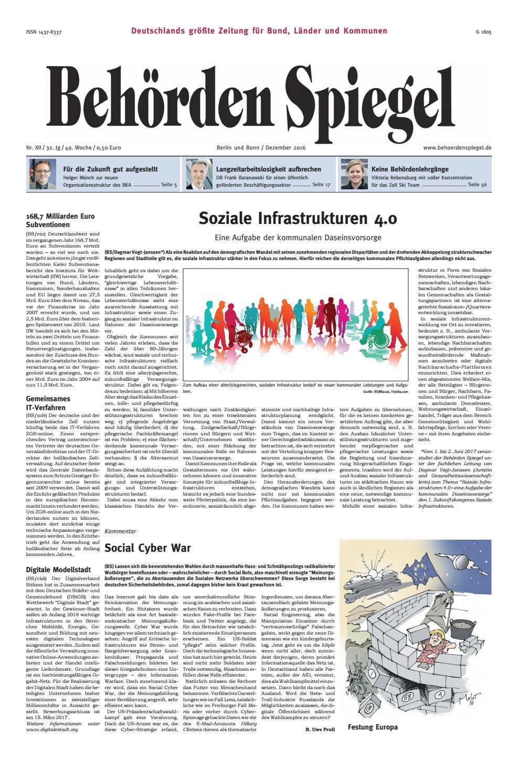 Behörden Spiegel Dezember 2016 by propress - issuu