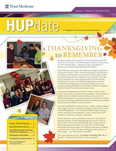 Digital Edition of HUPdate - 12/9/2016 by Penn Medicine - issuu