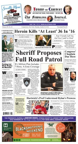 The Freemans Journal 10 21 16 By All Otsego News Of Oneonta