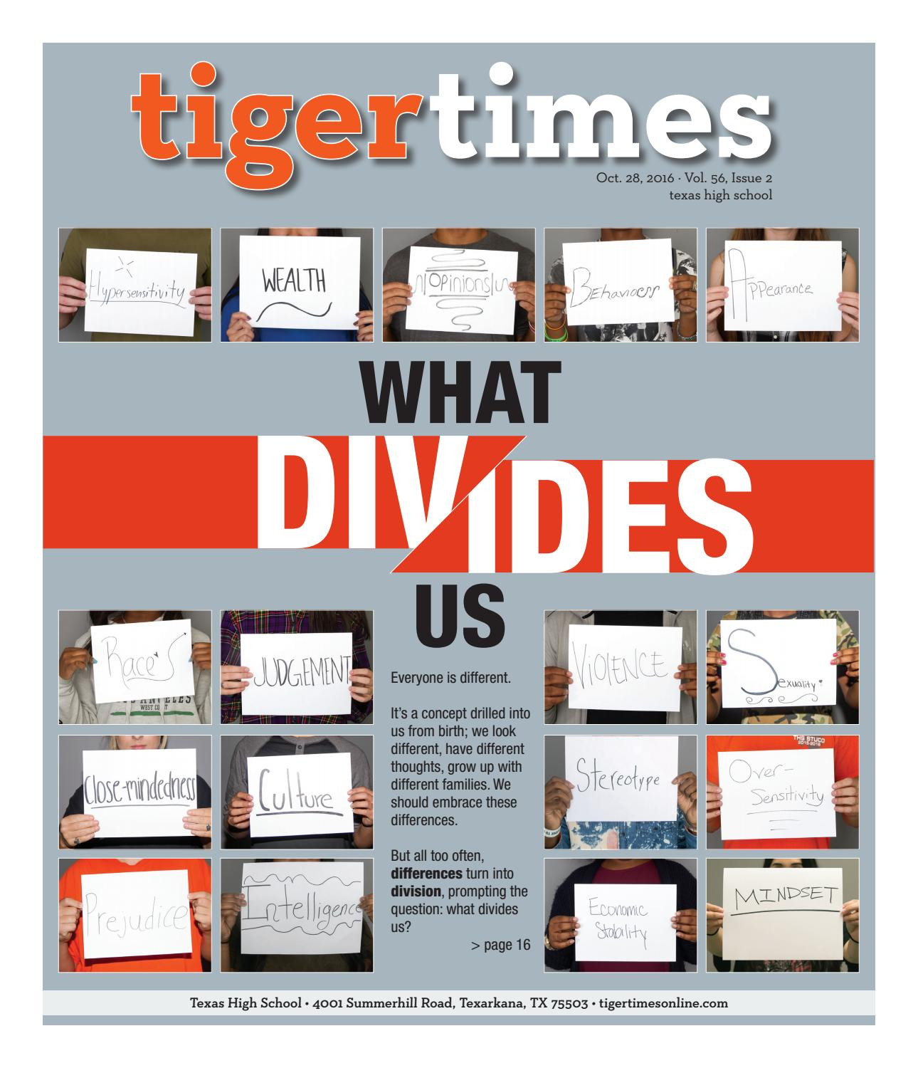 Tiger Times October 2016 Print Edition By Ths Student Media Issuu