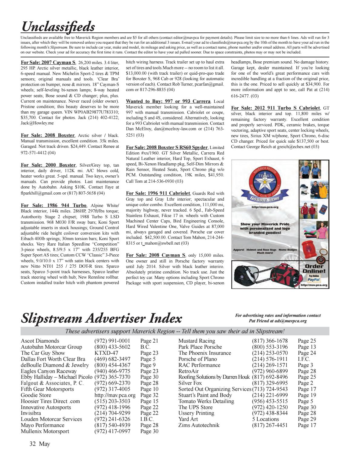 Slipstream May 2014 By Maverick Region Porsche Club Of America Trailer Wiring Harness Issuu