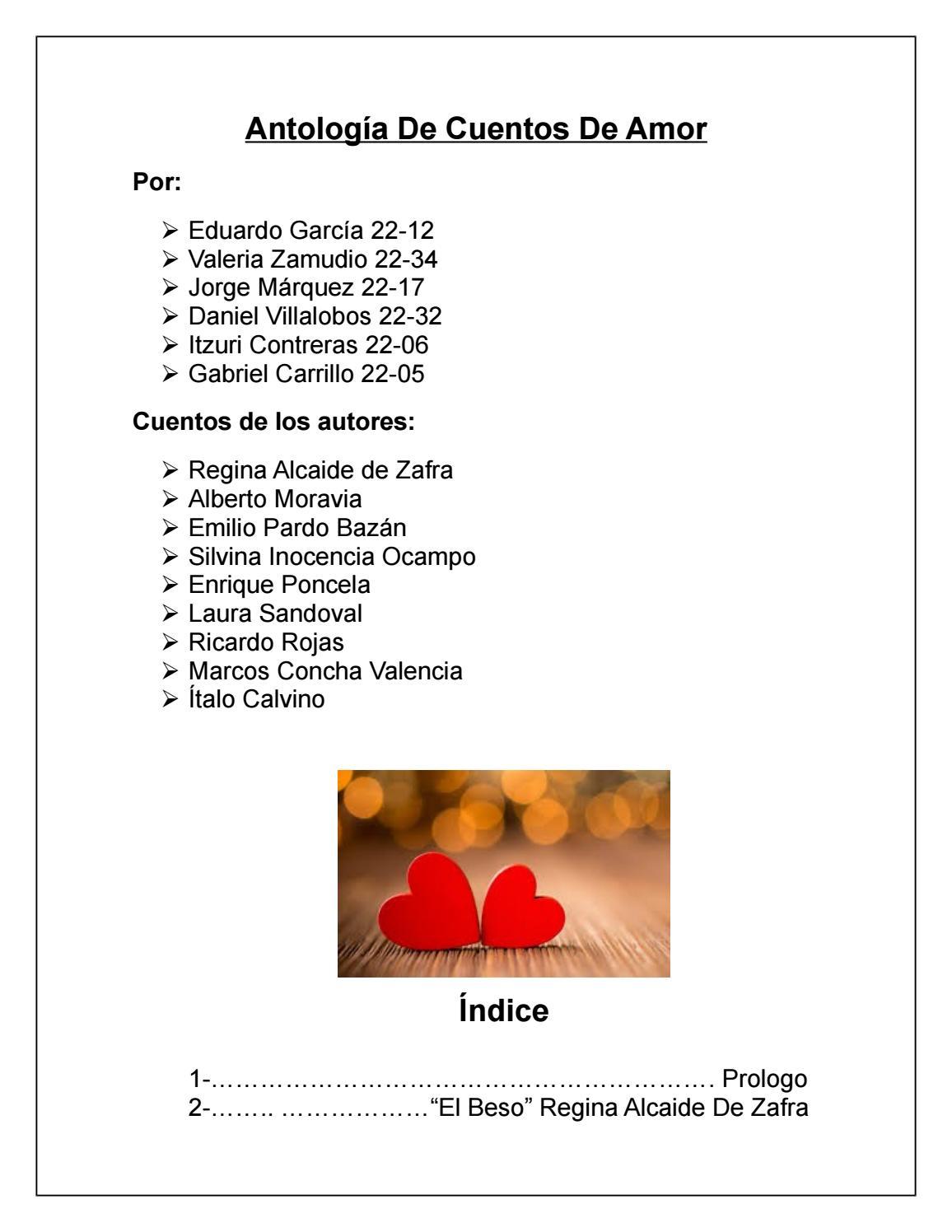 22 antologia cuentos de amor 2212,2205,2217,2234,2206,2232 by ...
