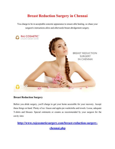 8e3471ac60526 Breast Reduction Surgery in Chennai You charge to be in acceptable concrete  appearance to ensure able healing