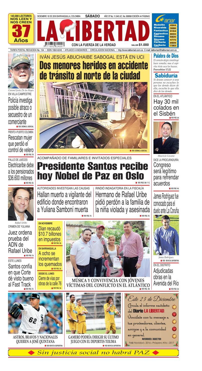 Diario La Libertad - 10 de diciembre de 2016 by Diario La Libertad ...
