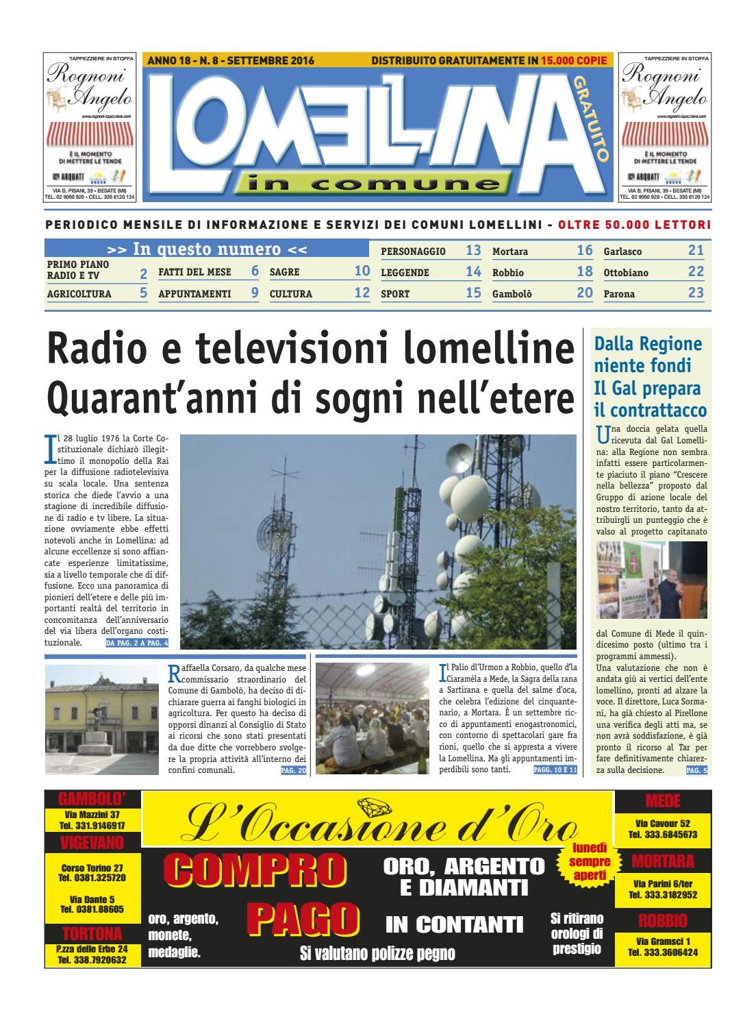 Lomellina 2016 Settembre by Edizioni Clematis - issuu 89e6ed2a505