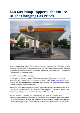 LED GAS PRICE SIGNS by Lewis Flores - issuu