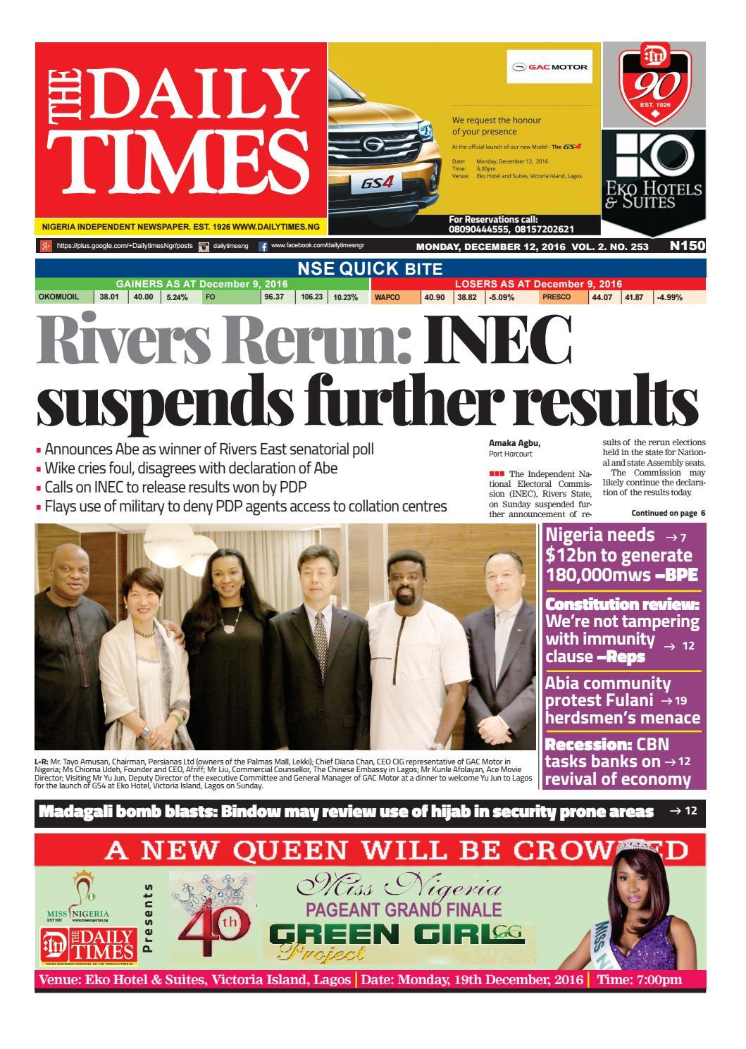 05e9dd1e3e05 Dtn 12 12 16 by Daily Times of Nigeria - issuu