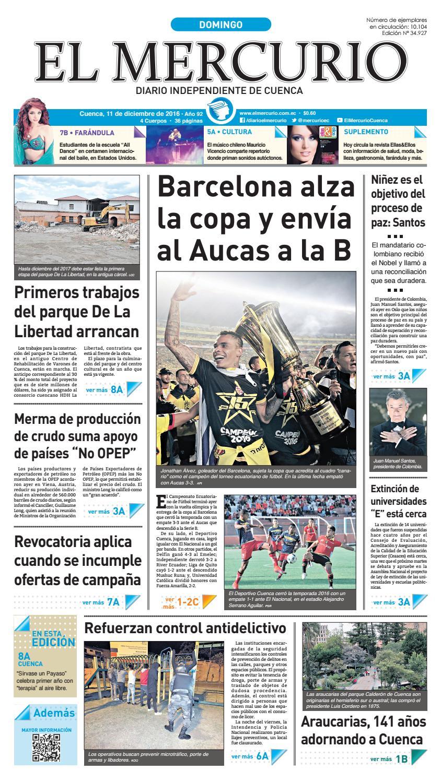 hemeroteca 11-12-2016 by Diario El Mercurio Cuenca - issuu 96836966c78