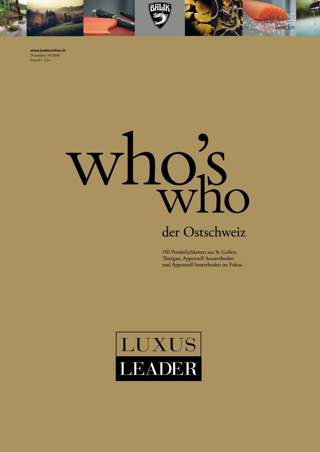 who's who 2016 by LEADER das Unternehmermagazin issuu