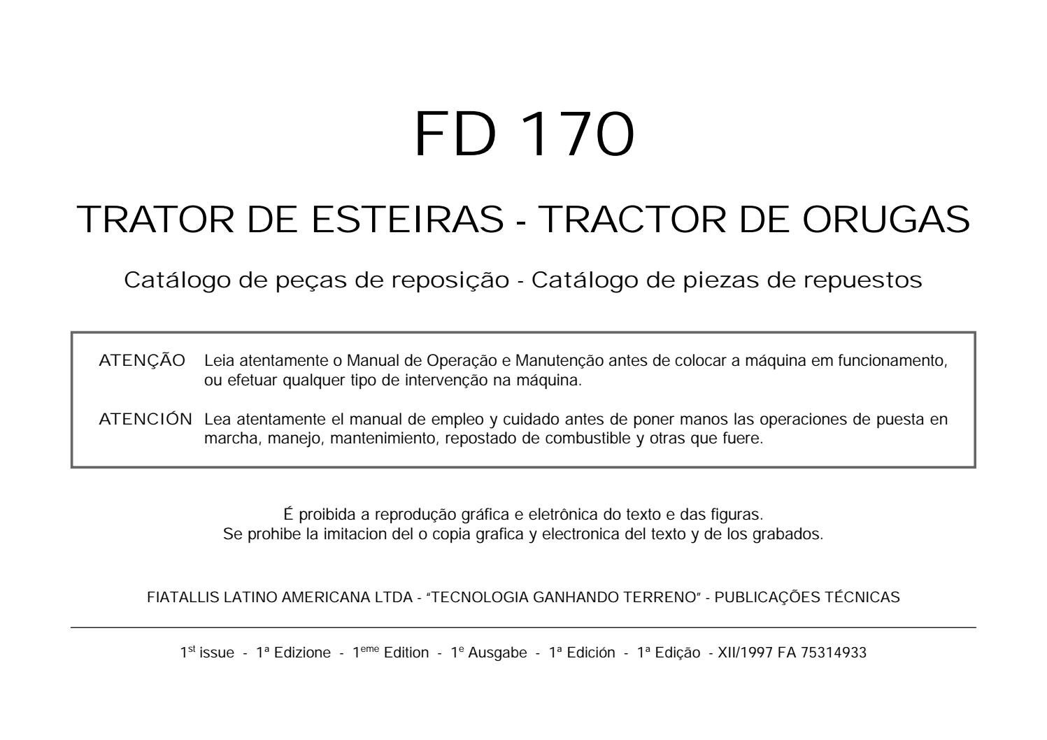 Catalogo de Peças Fiat Allis FD170 by Wellivelton Dos Santos - issuu