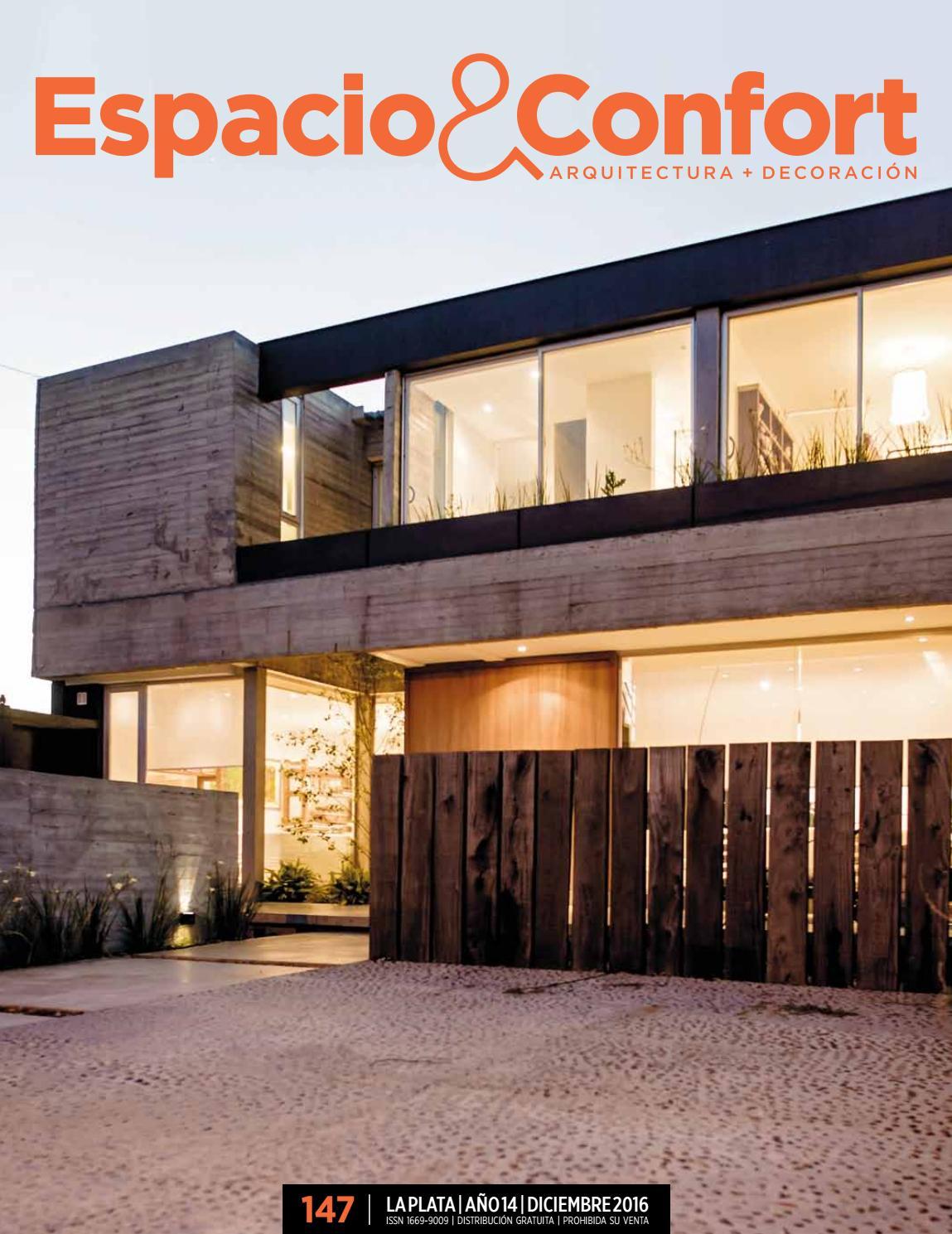 147 la plata diciembre 2016 by revista espacio confort for Estudios de arquitectura la plata