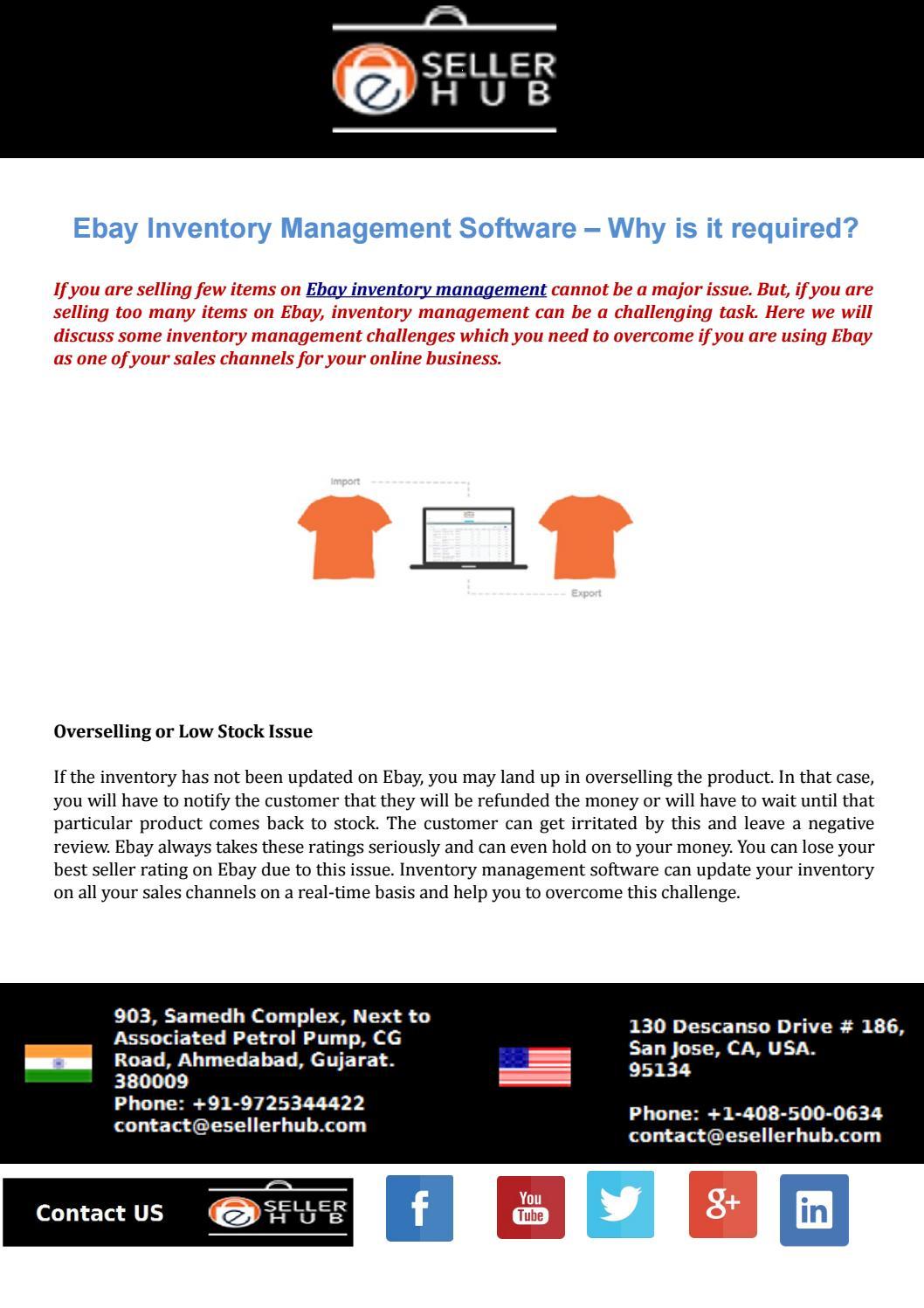 Ebay Inventory Management Software By Eseller Hub Issuu