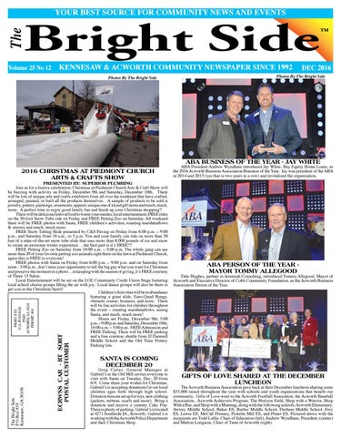 DECEMBER 2016 KENNESAW/ACWORTH NEWSPAPER for COBB COUNTY by Carol