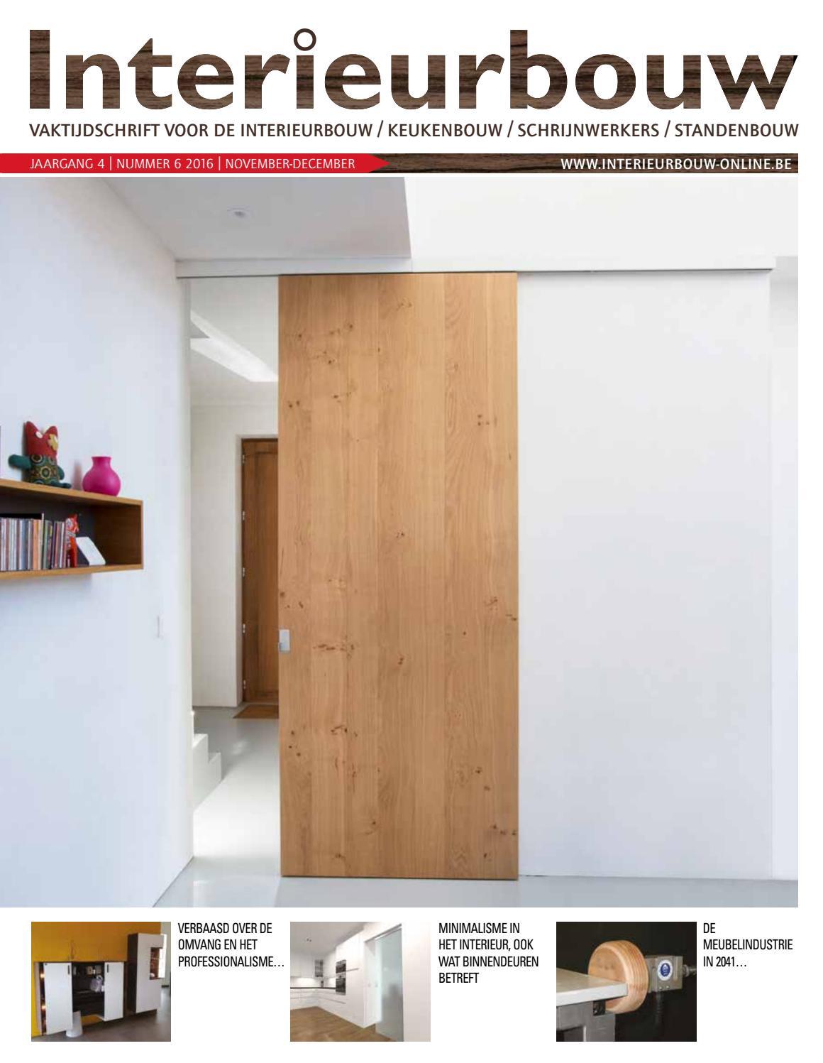 Interieurbouw 06 2016 by louwers uitgeversorganisatie bv for Interieur bouwer