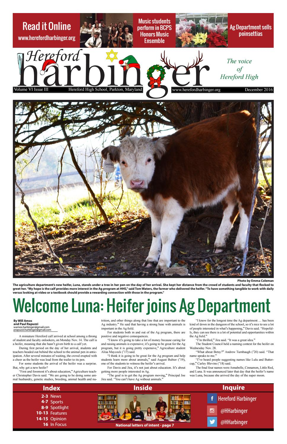 december 2016 by hereford harbinger issuu
