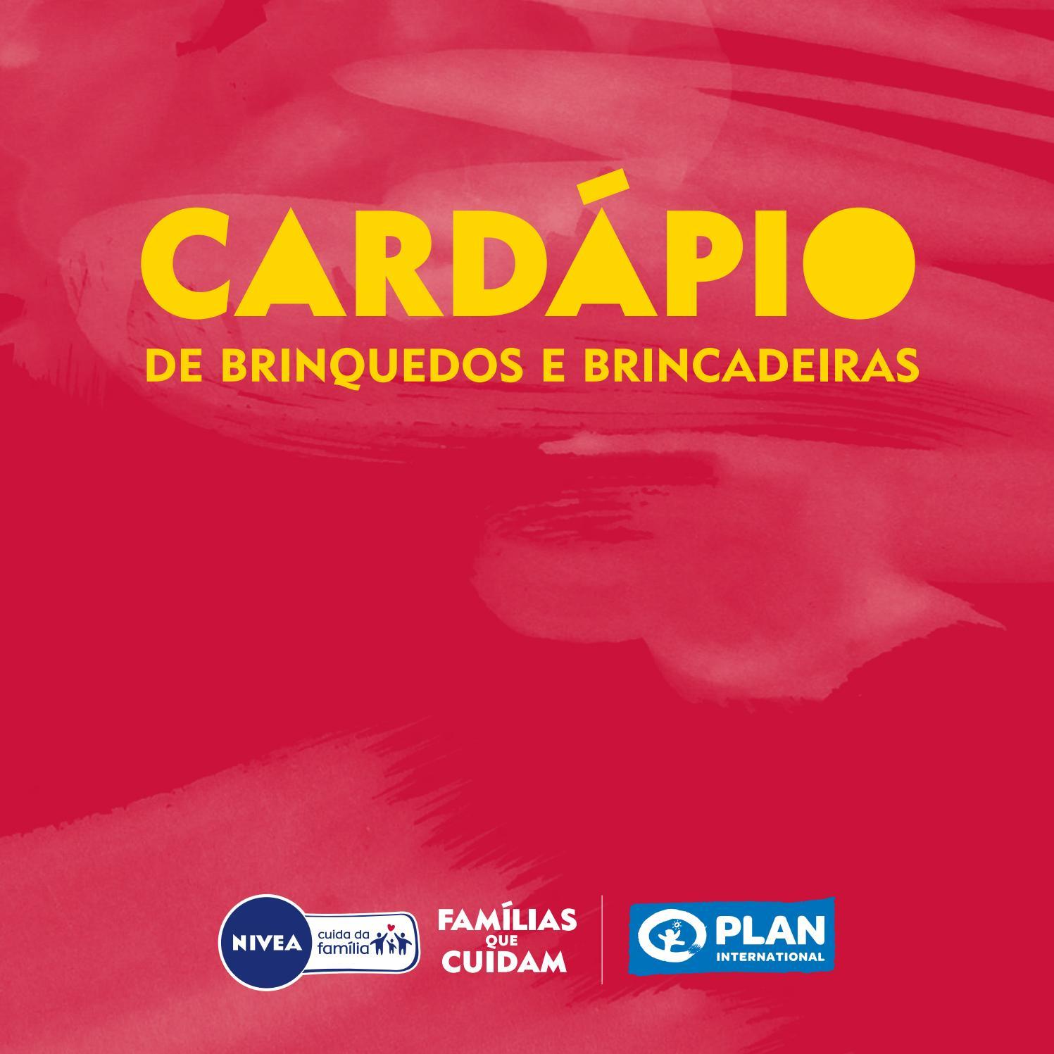 Cardápio De Brinquedos E Brincadeiras By Plan International Brasil