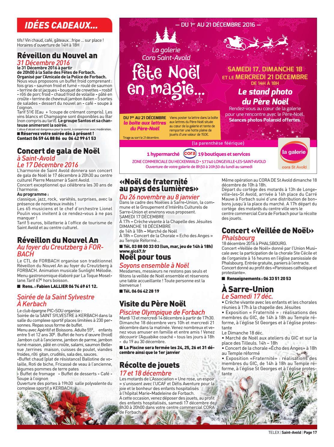 Menu Reveillon De Noel Cora.5016 St Avold By Claude Vervin Issuu