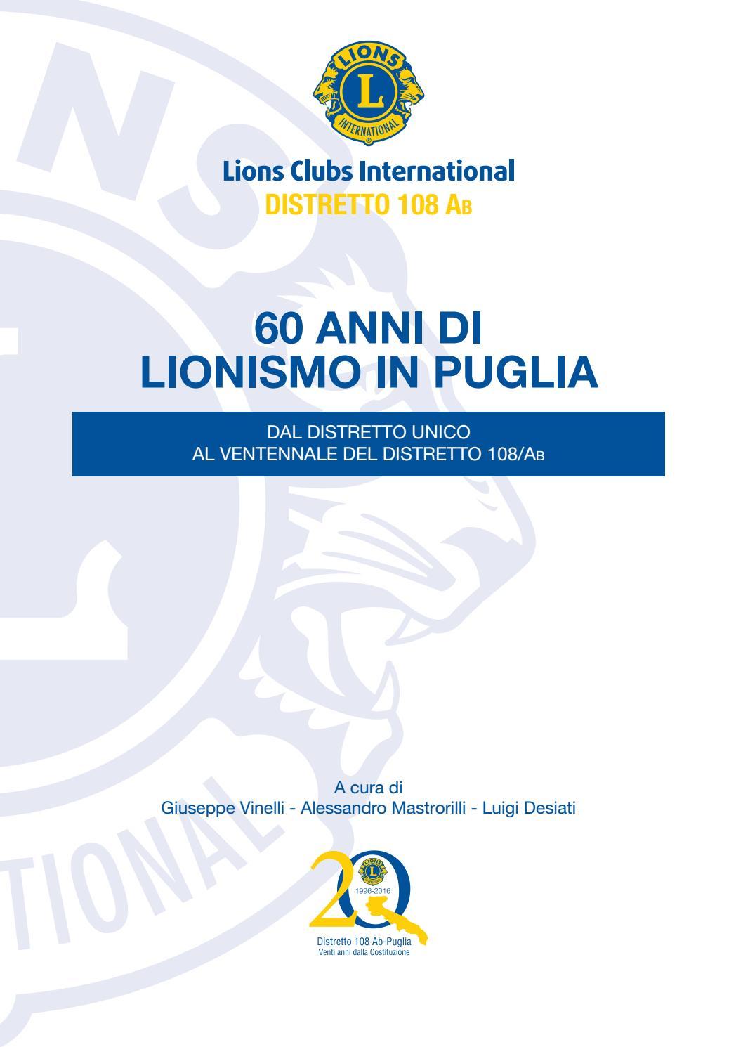 I 60 ANNI DI LIONISMO IN PUGLIA by Alessandro Mastrorilli - issuu 837ad2403b83