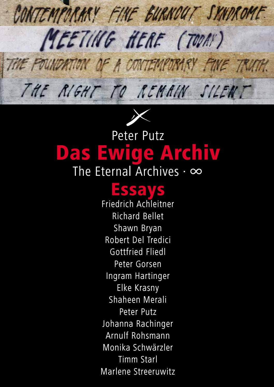 Essays: Das Ewige Archiv · The Eternal Archives (v_03) by archiv001 ...