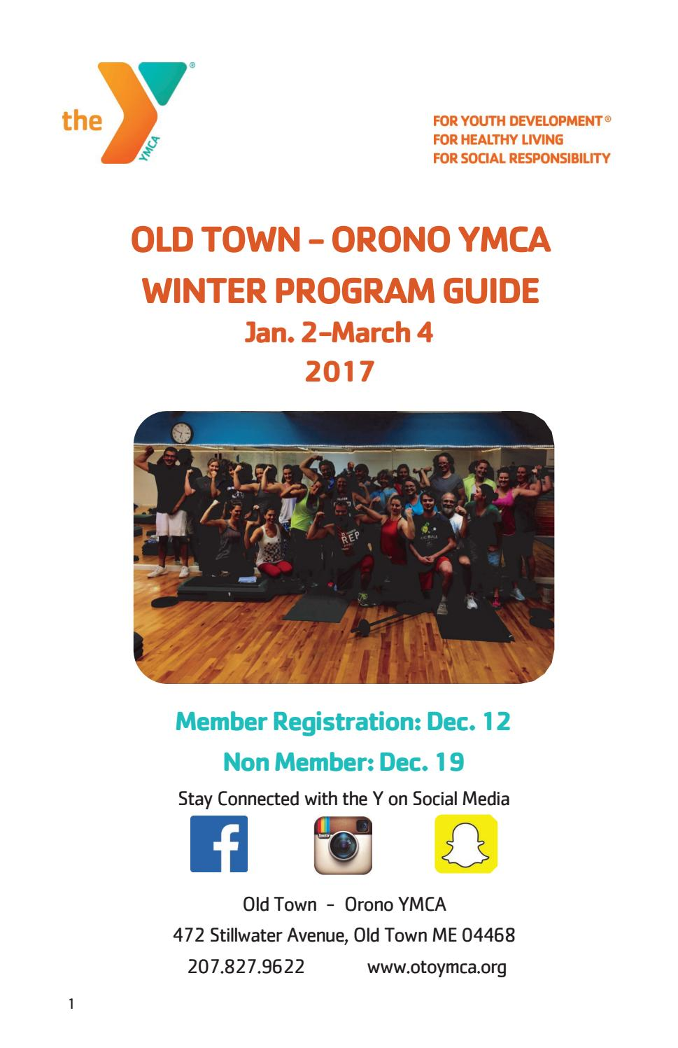 old town orono ymca winter 2017 program booklet by old town orono