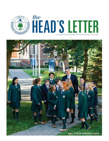 The heads letter fresh perspectives by rothesay netherwood school page 1 spiritdancerdesigns Image collections