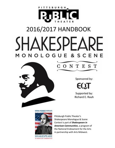 Shakespeare Contest Handbook 2017 By Pittsburgh Public Theater Issuu