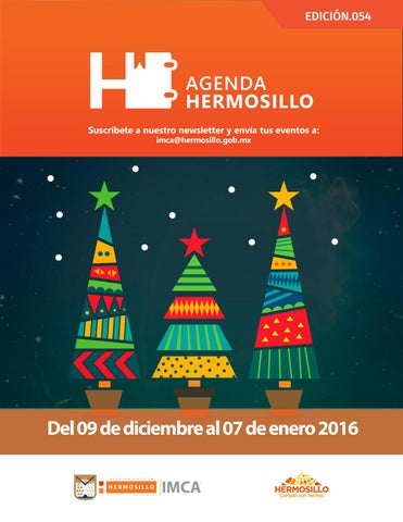 "Cover of ""Agenda Hermosillo 09 dic 2016"""