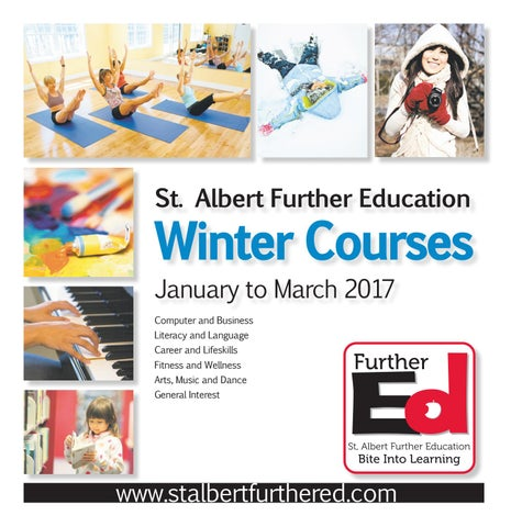 Winter 2017 course calendar by st albert further education issuu page 1 fandeluxe Gallery