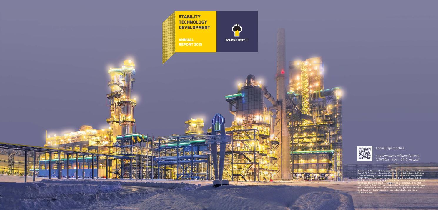A report 2015 eng Rosneft by Igor Marutti - issuu