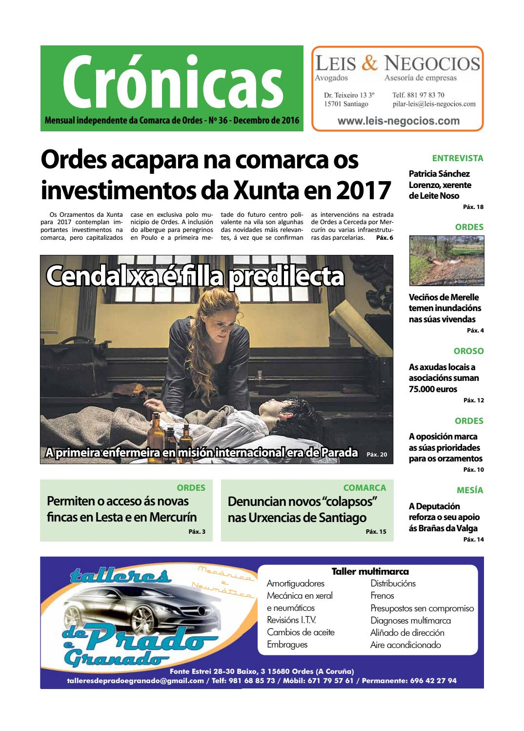 Cronicas Comarcadeordes N36 Decembro2016 By Cr Nicas Peri Dico  # Muebles Visantona