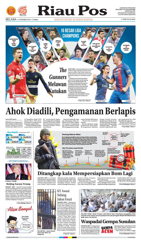 2016 12 13 By Riau Pos Issuu