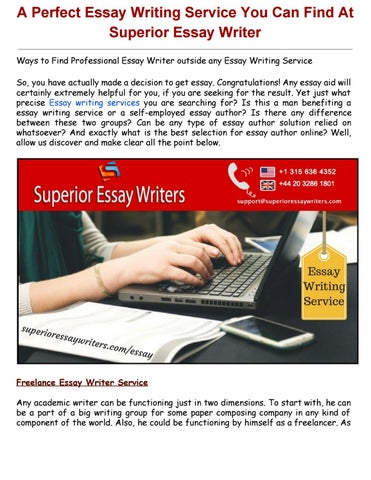 Superior essay writers