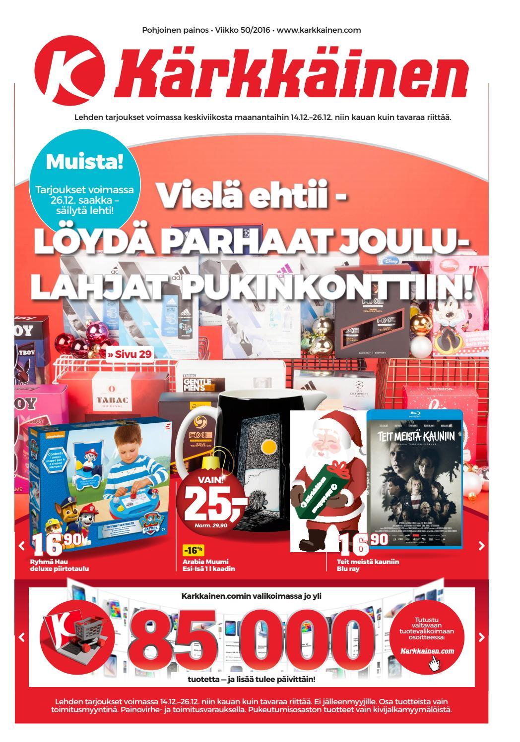 Kärkkäisen mainos (50 2016) (P) by Tavaratalo J. Kärkkäinen Oy - issuu 64434bee21