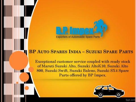 Genuine Suzuki Car Spare Parts Bp Auto Spares India