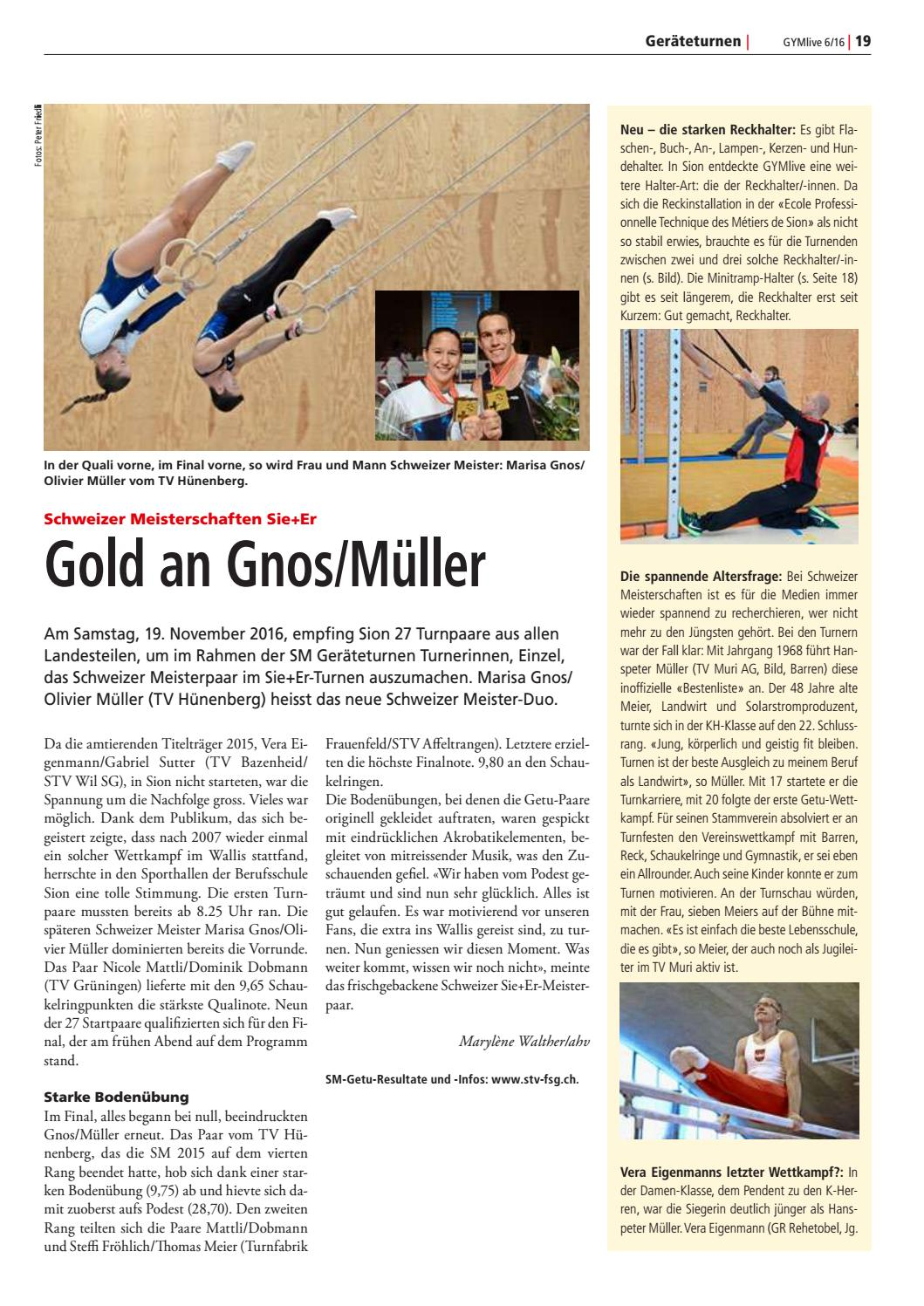 Gymlive 6/2016 by Schweizerischer Turnverband - issuu
