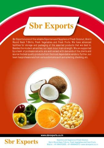 Sbr Exports Tamil Nadu India by Exportersindia - issuu