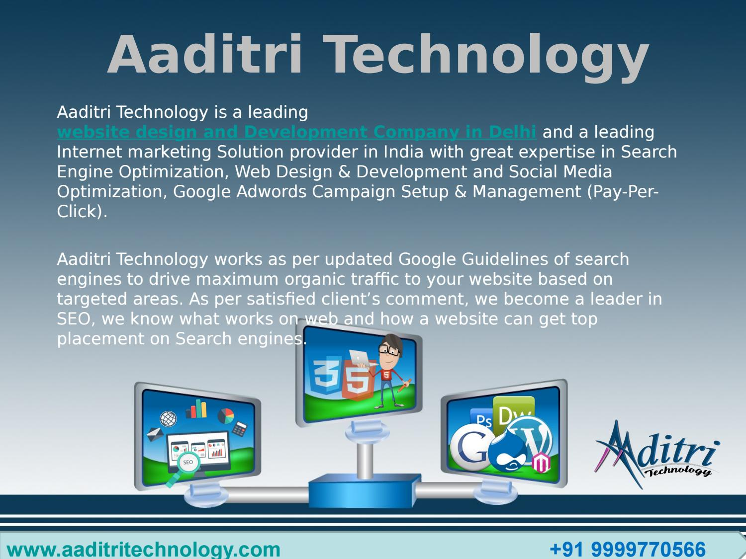 Aaditri Technology Web Design Development Company In Delhi By Aaditri Technology Issuu