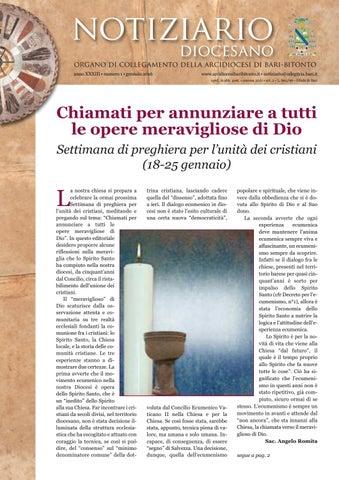 notiziario diocesano organo di collegamento della arcidiocesi di bari-bitonto  anno XXXIII • numero 1 • gennaio 2016 033dae3c12a