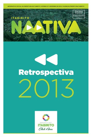 Jornal NaAtiva 07 - Dezembro de 2013 by Prefeitura de Itabirito - issuu fb6ec23a43753
