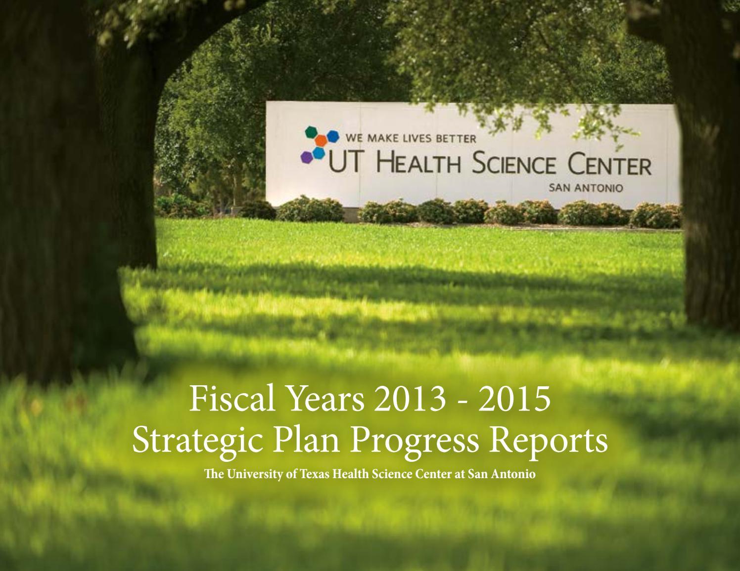 Strategic Plan Progress Report FY13-15 by UT Health San